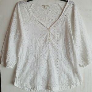 Banana Republic peasant boho chick blouse top.